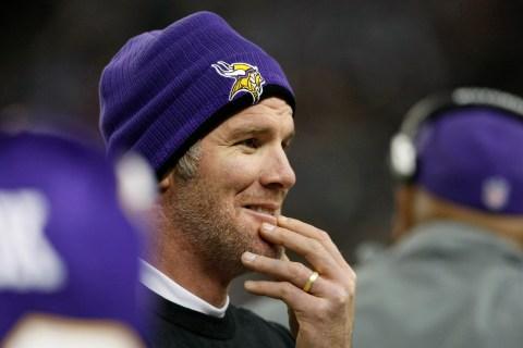 Minnesota Vikings quarterback Brett Favre