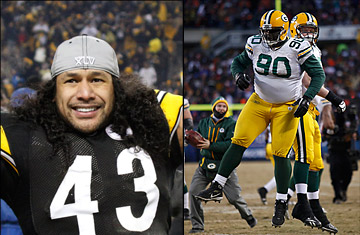 Troy Polamalu and B.J. Raji
