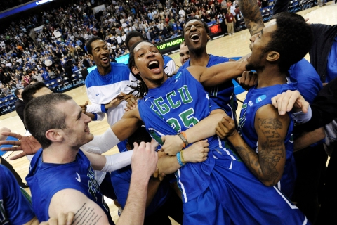 Florida Gulf Coast  defeats San Diego State to become the first No. 15 seed to make the NCAA Men's Basketball Tournament Sweet 16.