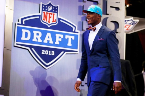 2013 NFL DraftDion Jordan of the Oregon Ducks at the first round of the 2013 NFL Draft at Radio City Music Hall in New York City, on April 25, 2013.