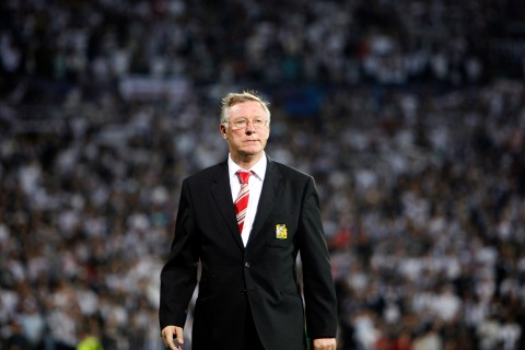 Manchester United's manager Alex Ferguson at their Champions League soccer match aganist Besiktas at the Inonu Stadium in Istanbul, on September 15, 2009.