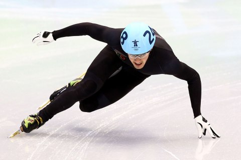 Blake Skjellerup of New Zealand competes in the Short Track Speed Skating Men's 1,000 m on day 6 of the Vancouver 2010 Winter Olympics at Pacific Coliseum on February 17, 2010 in Vancouver, Canada.