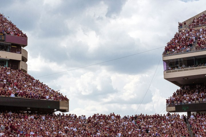 Texas A&M fans fill the stadium.