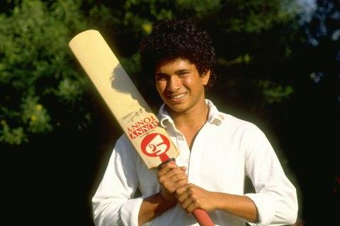 Tendulkar: first match for India 1989 (1)