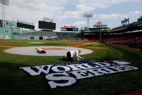 World Series Workouts And Preparations At Fenway Park