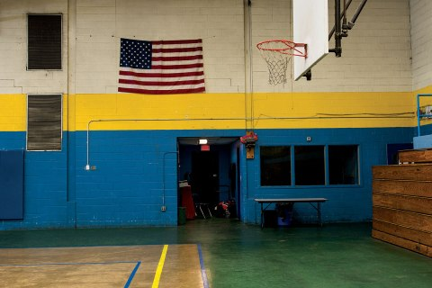 Childhood hoop of Shaquille O'Neal at the Boys and Girls Club of Newark
