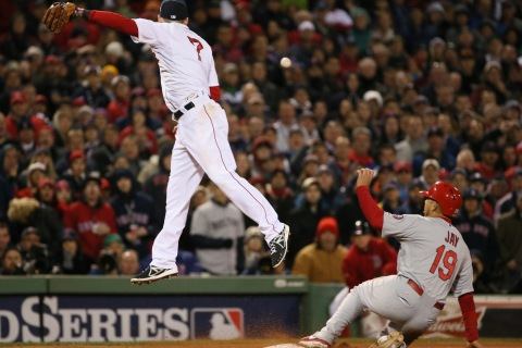 Cardinals at Boston Red Sox World Series Game 2