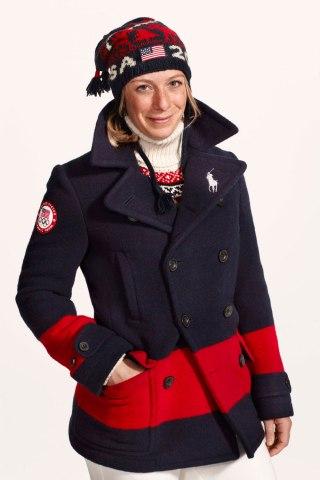 U.S. Olympic champion  Hannah Kearney wearing Ralph Lauren for the 2014 Winter Olympics.