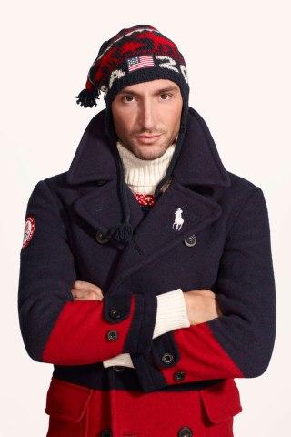 U.S. Olympic champion Evan Lysacek wearing Ralph Lauren for the 2014 Winter Olympics.