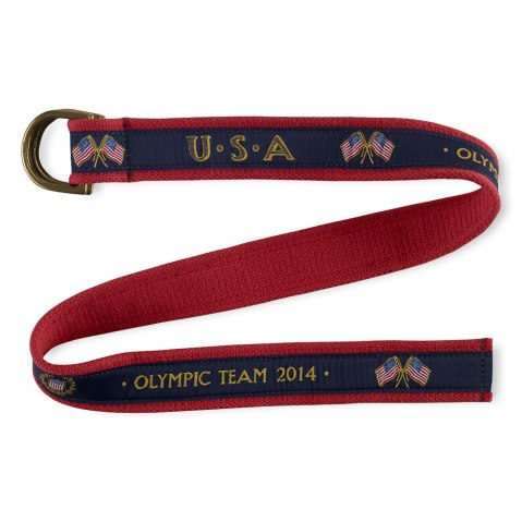 A belt, part of the official gear of the 2014 U.S. Olympic team, by Ralph Lauren.