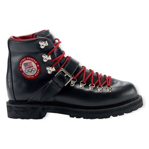 A boot, part of the official gear of the 2014 U.S. Olympic team by Ralph Lauren.