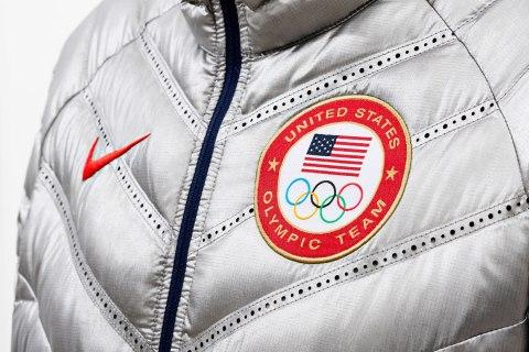 Detail of the Nike Aeroloft 800 Summit Jacket.