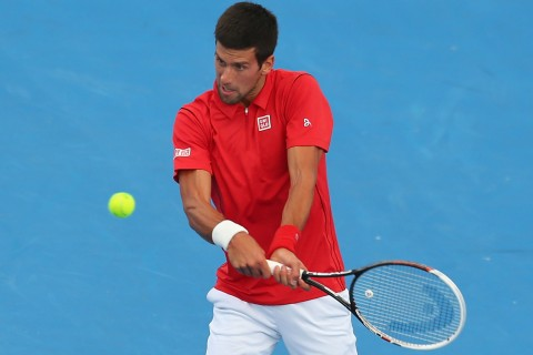 Novak Djokovic at Australian Open Warm-Up
