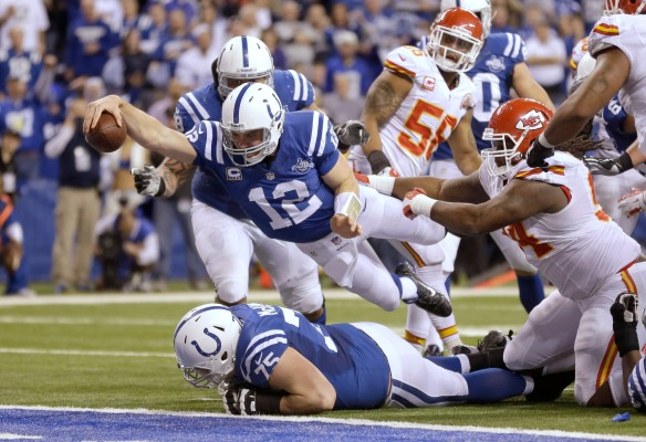 Welcome to my world. : Colts QB Andrew Luck