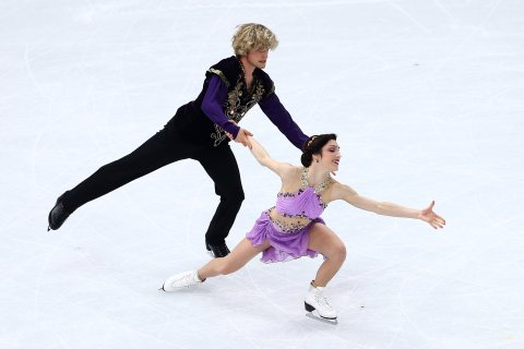 Meryl Davis and Charlie White of the United States compete in the Figure Skating Ice Dance Free Dance at Iceberg Skating Palace on February 17, 2014 in Sochi.