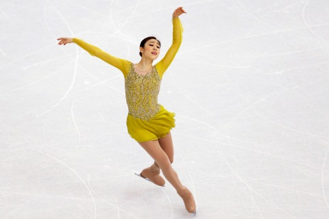 Korea's Yuna Kim competes during the Figure Skating Women's Short Program.